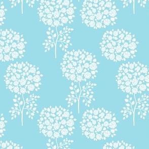 Blue Rose Trees