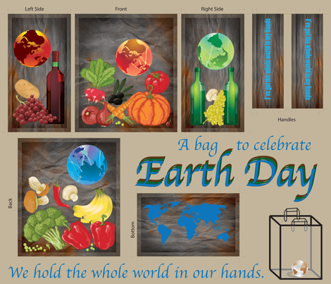 Earth_Day_Bag fabric by relk on Spoonflower - custom fabric
