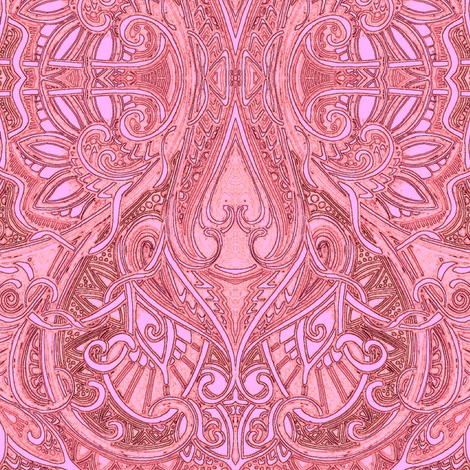 Peace, Love, and Pink fabric by edsel2084 on Spoonflower - custom fabric