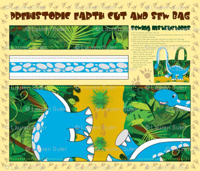 Prehistoric Earth Cut & Sew Bag