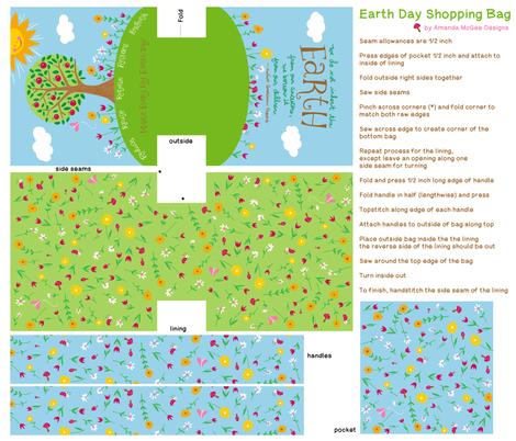 AmandaMcGee_EarthDayShoppingBag fabric by amandamcgee on Spoonflower - custom fabric