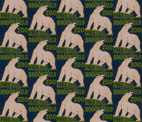 Zoo Polar Bear fabric by bananana on Spoonflower - custom fabric