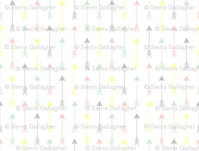 Colourful Arrows Peach, Lemon, Pistachio, and Mist