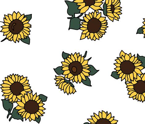 sunflowertile fabric by evapatterndesign on Spoonflower - custom fabric