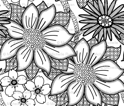 ColourMe Floral Wallpaper Large