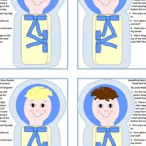 Swaddling Baby Boys Cut and Sew Doll