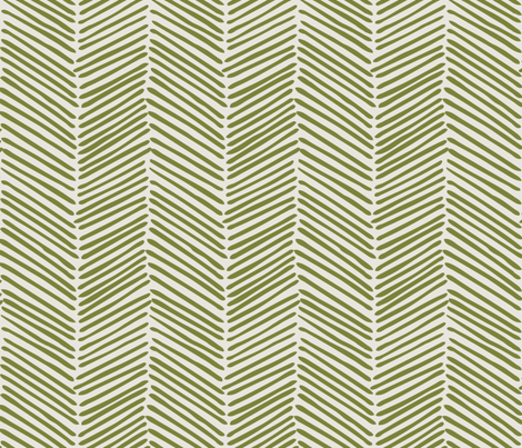 Freeform Arrows Large moss on natural fabric by domesticate on Spoonflower - custom fabric