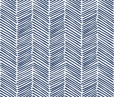 Freeform Arrows Large in indigo fabric by domesticate on Spoonflower - custom fabric