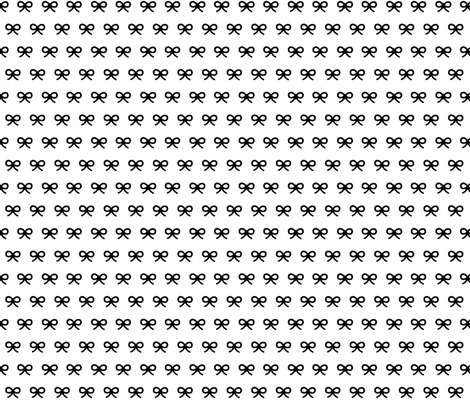 Black and White Bow fabric by amnick on Spoonflower - custom fabric
