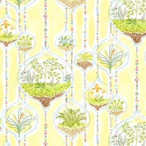 Watercolor Terrariums Yellow
