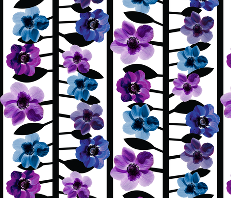anemone_stripe fabric by karismithdesigns on Spoonflower - custom fabric