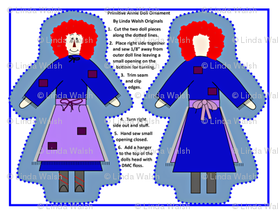 Primitive Annie Cut and Sew Doll