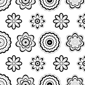 coloring wallpaper flowers