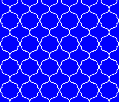 Hexafoil Royal Blue and White fabric by arm_pillozzz on Spoonflower - custom fabric