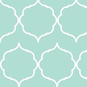 Hexafoil Horizontal Offset in Mint