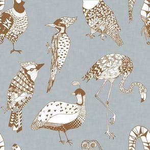 Geo Birds (Silver + Bronze)