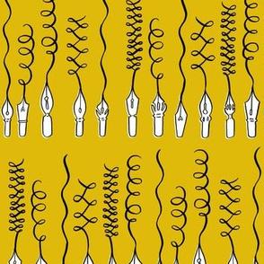 writing nibs - mustard