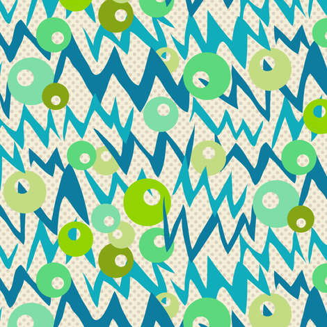 buzzy bubbles fabric by darcibeth on Spoonflower - custom fabric