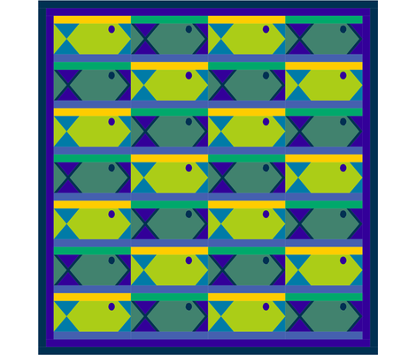 Baby Fishies fabric by helenrichardsquilts on Spoonflower - custom fabric