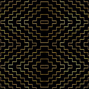 Aztec in Black and Gold