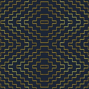 Aztec in Navy and Gold