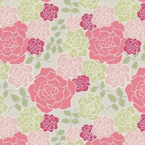 Floribunda, Rose + Taupe