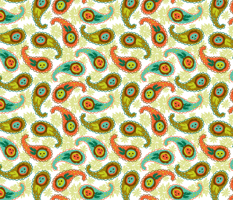 skelly paisley fabric by skellychic on Spoonflower - custom fabric