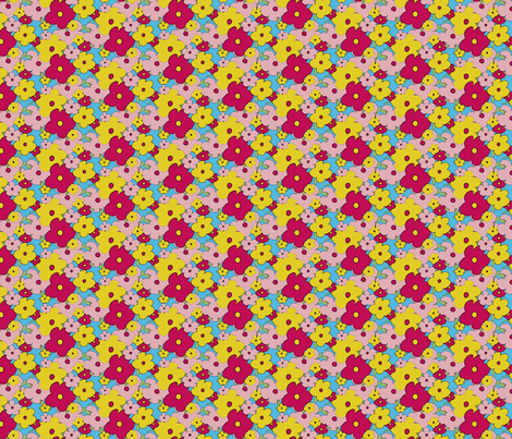 Cartoon Ditsy Floral fabric by jenflorentine on Spoonflower - custom fabric