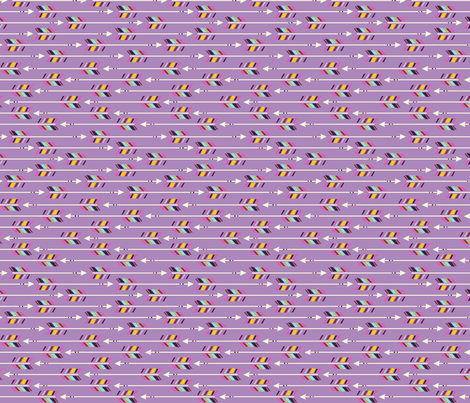 Small Arrows: Horizontal Orchid fabric by nadiahassan on Spoonflower - custom fabric