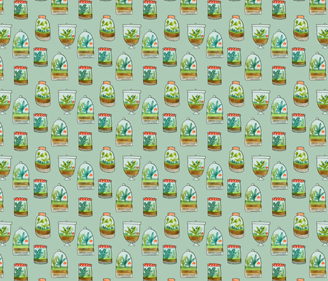 Le Petit Terrarium fabric by abigailhalpin on Spoonflower - custom fabric