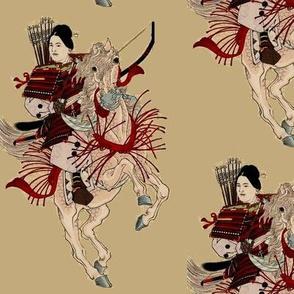 Warrior Woman on horse
