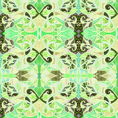 When Lady Guinevere Speaks in Greens fabric by edsel2084 on Spoonflower - custom fabric