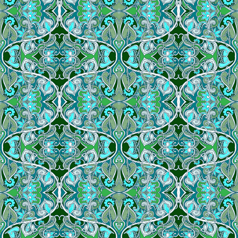 At the Sine of the Vine fabric by edsel2084 on Spoonflower - custom fabric