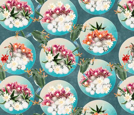 cacti terrariums fabric by kociara on Spoonflower - custom fabric
