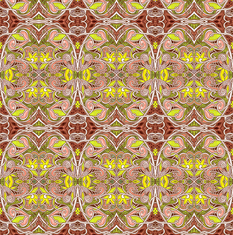 Psychedelic Chicken's Progeny fabric by edsel2084 on Spoonflower - custom fabric