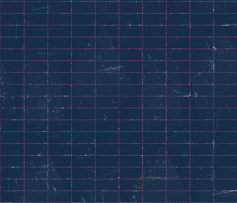 Distressed Grid Navy fabric by jenflorentine on Spoonflower - custom fabric