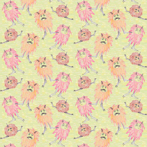Crayon Monster Baybeez fabric by lulakiti on Spoonflower - custom fabric