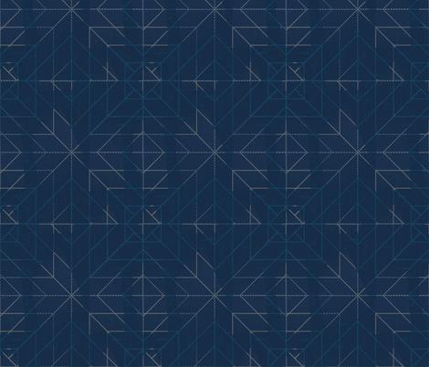 Geometric blue fabric by jenflorentine on Spoonflower - custom fabric