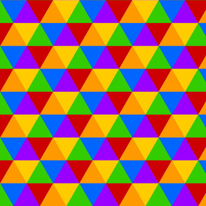 Rainbow Hexagonal Triangle Pattern - Basic