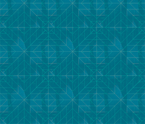 Geometric Teal fabric by jenflorentine on Spoonflower - custom fabric