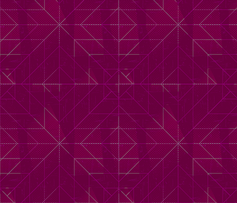 Geometric Magenta fabric by jenflorentine on Spoonflower - custom fabric