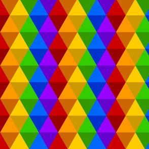 Rainbow - Shaded Basic Diamonds