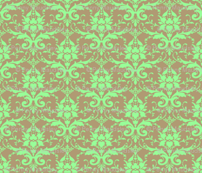 MINT CHOCOLATE DAMASK