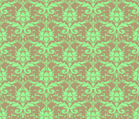MINT CHOCOLATE DAMASK fabric by bluevelvet on Spoonflower - custom fabric