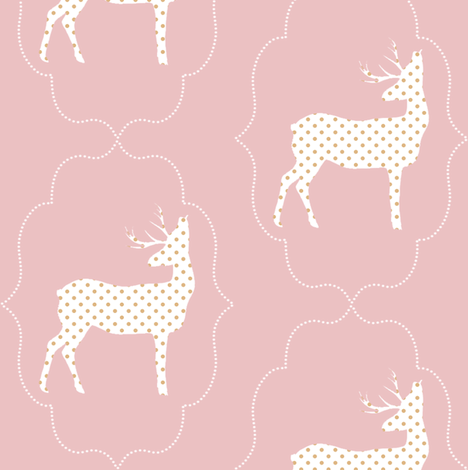 dotted deer fabric by ajoyfulriot on Spoonflower - custom fabric