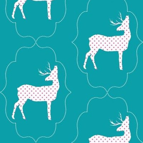 Dotted Deer in Turquoise