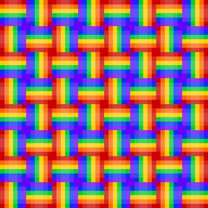 Rainbow - Woven - Pixeled