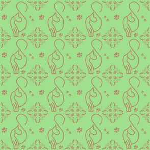 MINT CHOCOCAT DAMASK