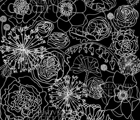 Contrast Bouquet in Black