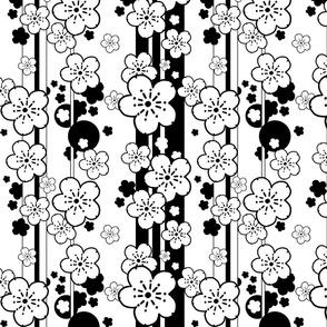 Sakura Stripe black and white